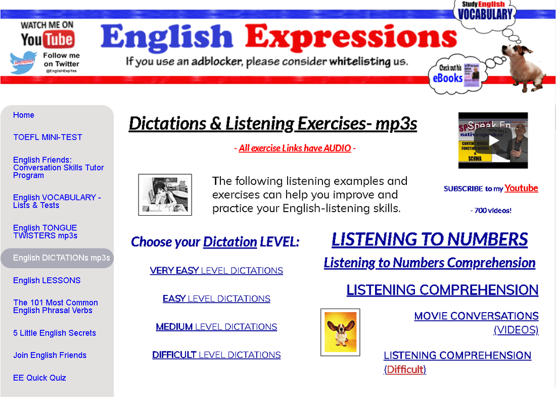 English Express YES! - ESL Dictation mp3s