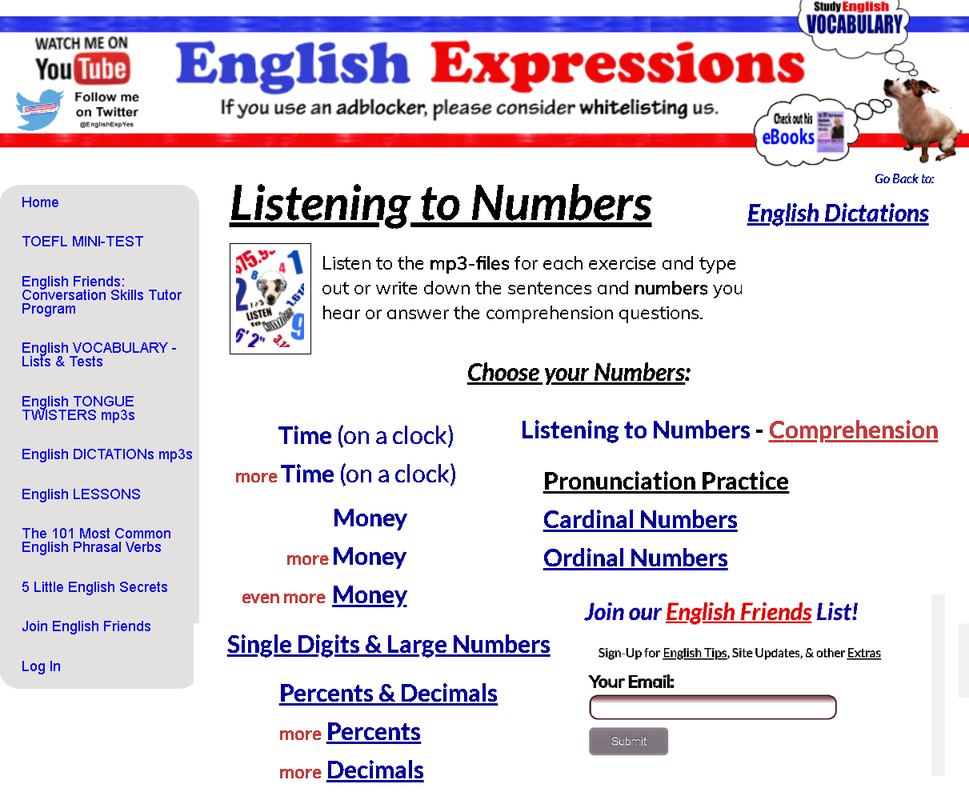 English express yes esl dictations listening to numbers picture ibookread PDF